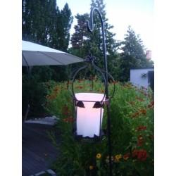 Hängende Kronen-Gartenlampe m. Blätter